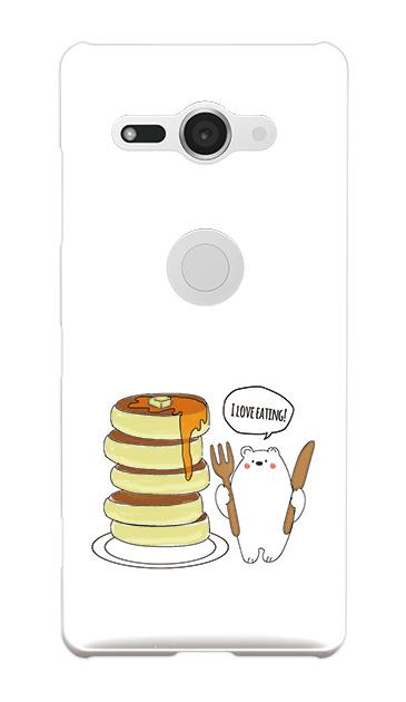 Xperia XZ2 Compactのケース、しろくまパンケーキ【スマホケース】