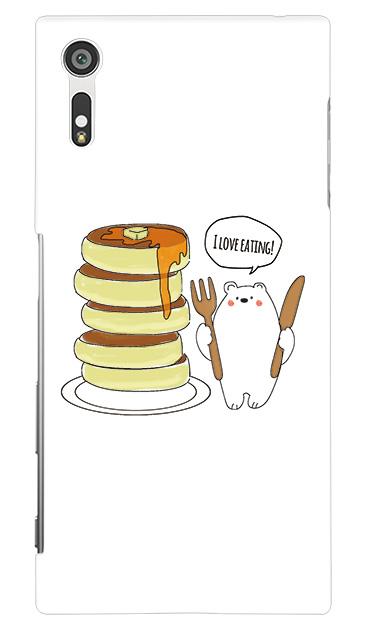 Xperia XZのケース、しろくまパンケーキ【スマホケース】