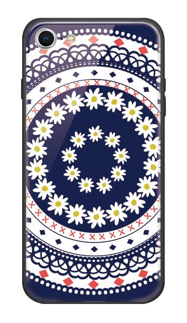 iPhone7のハードケース、フラワー北欧レース【スマホケース】