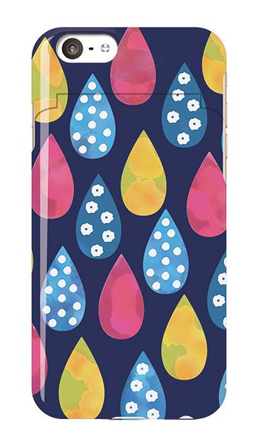 iPhone6sのミラー付きケース、北欧ドロップス【スマホケース】