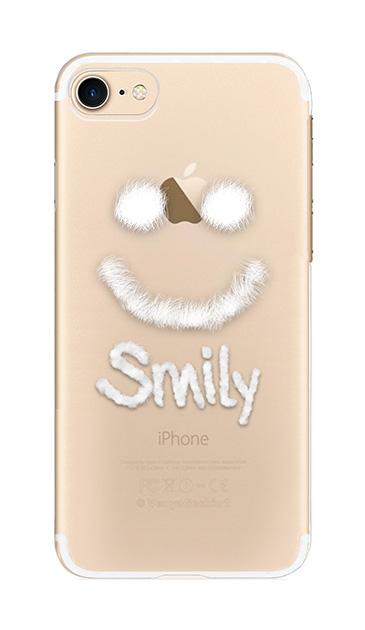 iPhone7のクリア(透明)ケース、ファースマイリー【スマホケース】