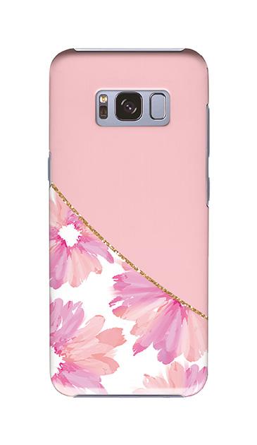 Galaxy S8のケース、ガーリーフラワー・ツイン【スマホケース】