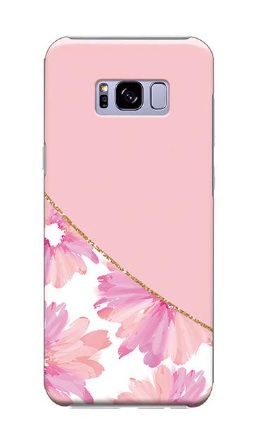 Galaxy S8+のケース、ガーリーフラワー・ツイン【スマホケース】