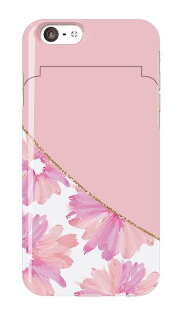 iPhone6sのミラー付きケース、ガーリーフラワー・ツイン【スマホケース】