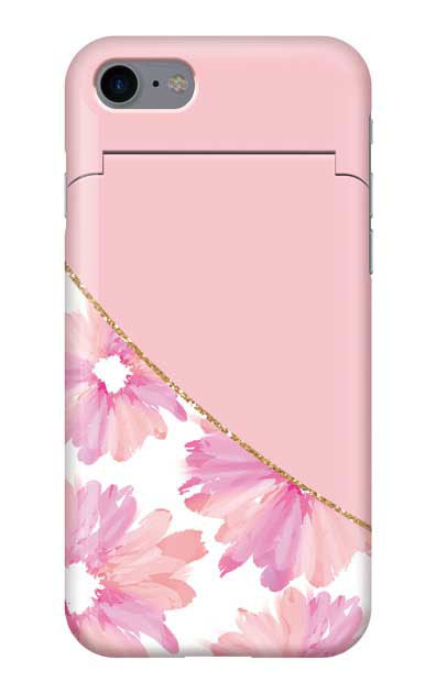 iPhone8のケース、ガーリーフラワー・ツイン【スマホケース】