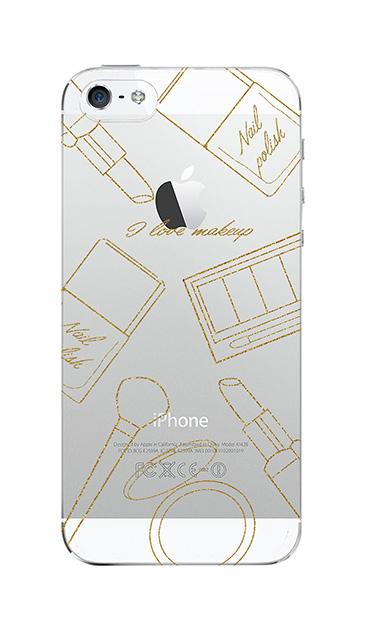 iPhone5Sのクリア(透明)ケース、シックコスメパーティー【スマホケース】