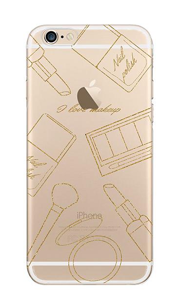 iPhone6sのクリア(透明)ケース、シックコスメパーティー【スマホケース】