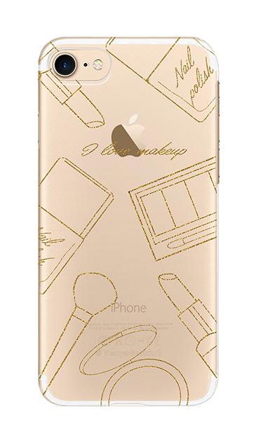 iPhone7のクリア(透明)ケース、シックコスメパーティー【スマホケース】