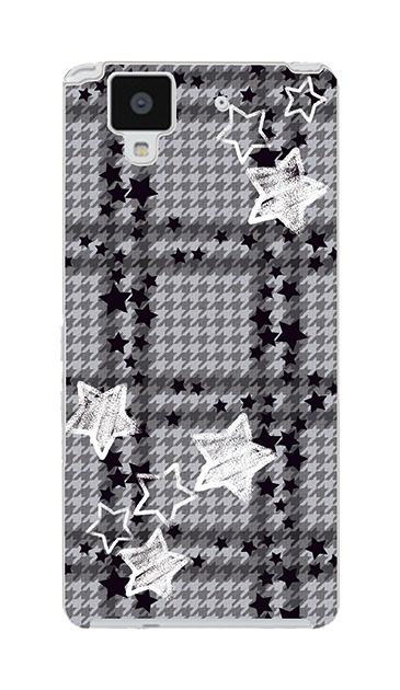 ARROWS NXのケース、千鳥格子スター【スマホケース】