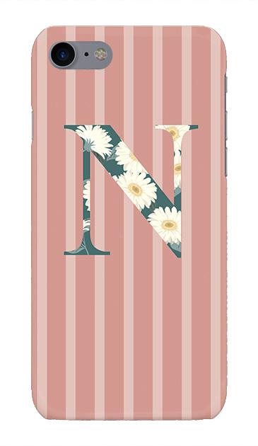 iPhone7のケース、ストライプガーベラ・N