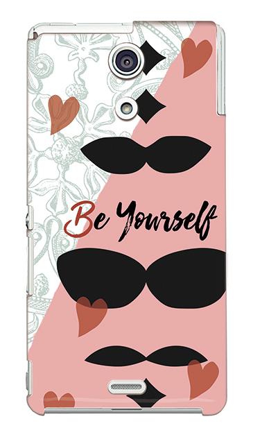 Xperia Aのケース、「Be yourself(自分らしく)」【スマホケース】