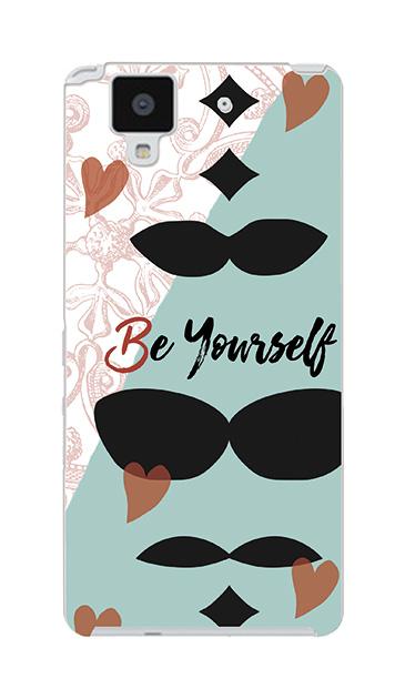 ARROWS NXのケース、「Be yourself(自分らしく)」【スマホケース】