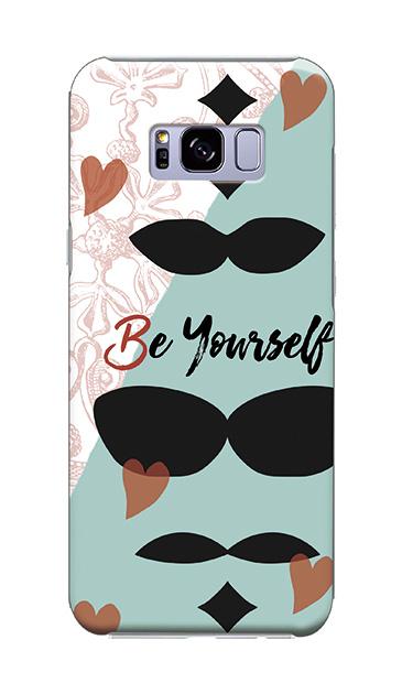 Galaxy S8+のケース、「Be yourself(自分らしく)」【スマホケース】