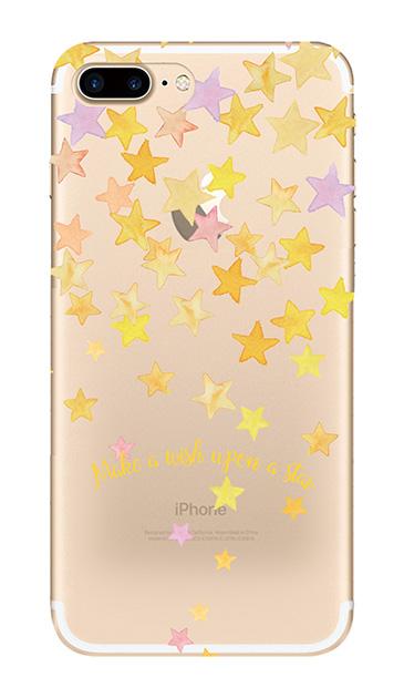 iPhone7 Plusのクリア(透明)ケース、ミラクルスターシャワー