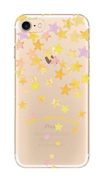 iPhone8のクリア(透明)ケース、ミラクルスターシャワー【スマホケース】