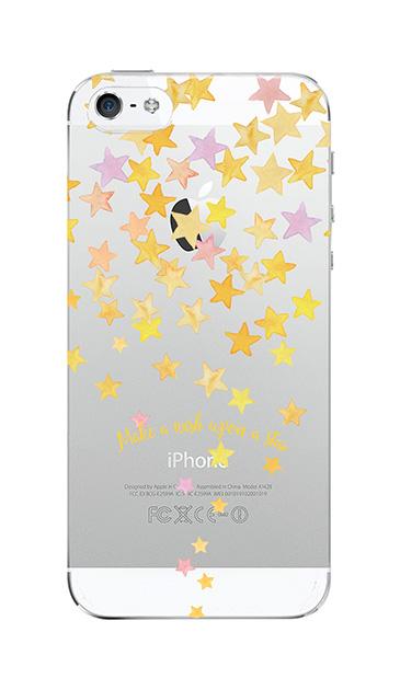 iPhoneSEのケース、ミラクルスターシャワー【スマホケース】