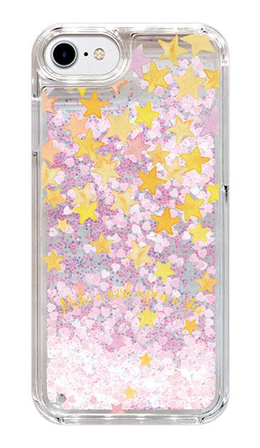 iPhone6のグリッターケース、ミラクルスターシャワー【スマホケース】