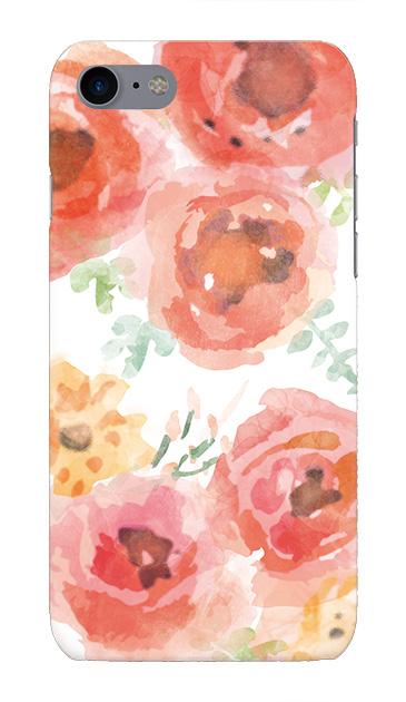 iPhone7のケース、水彩フラワー・ローズ