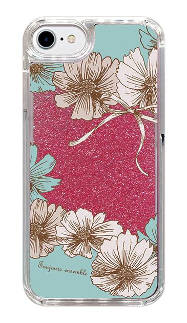 iPhone7のケース、ツインフラワー・リボン