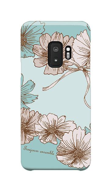 Galaxy S9のケース、ツインフラワー・リボン