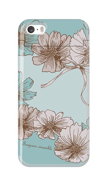 iPhoneSEのケース、ツインフラワー・リボン
