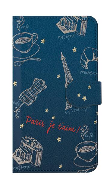 iPhone8の手帳型ケース、ラフイラスト・パリ【スマホケース】