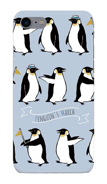 iPhone8のケース、キュートペンギンマーチ【スマホケース】