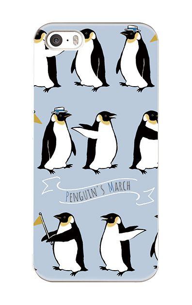 iPhoneSEのケース、キュートペンギンマーチ