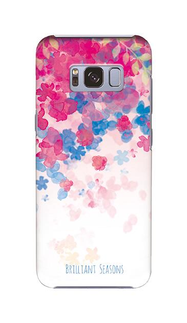 Galaxy S8のケース、ブリリアントフラワー