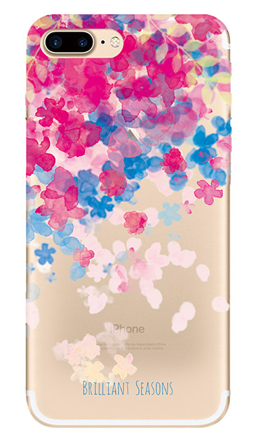 iPhone7 Plusのクリア(透明)ケース、ブリリアントフラワー