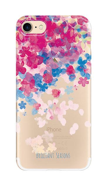 iPhone8のケース、ブリリアントフラワー