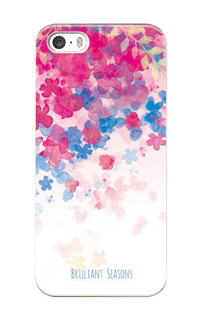 iPhoneSEのケース、ブリリアントフラワー