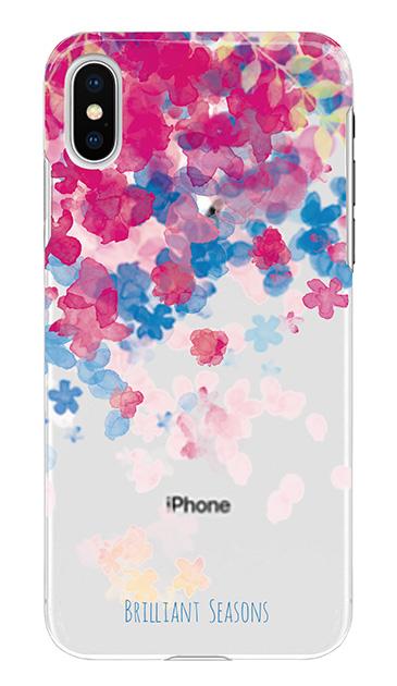 iPhoneXSのケース、ブリリアントフラワー