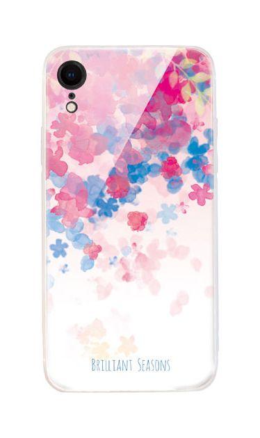 iPhoneXRのケース、ブリリアントフラワー【スマホケース】
