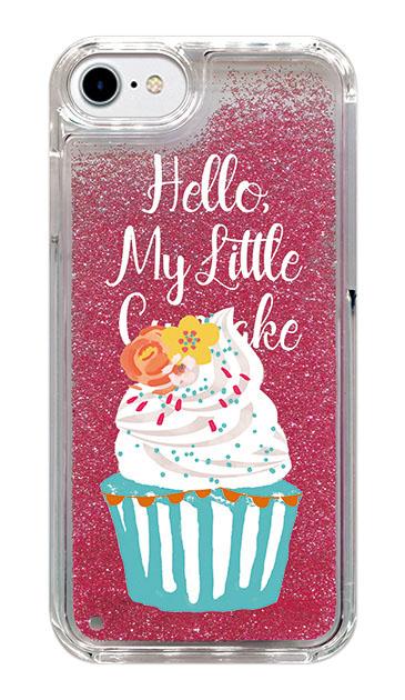 iPhone6のグリッターケース、キュートフラワーカップケーキ【スマホケース】