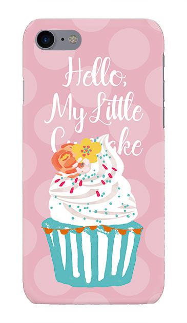 iPhone7のケース、キュートフラワーカップケーキ【スマホケース】