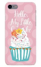 iPhone7対応のハードケース・ツヤ有り、キュートフラワーカップケーキ【スマホケース】