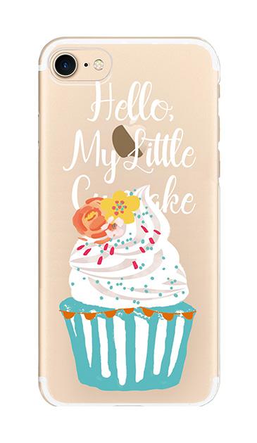 iPhone8のケース、キュートフラワーカップケーキ【スマホケース】
