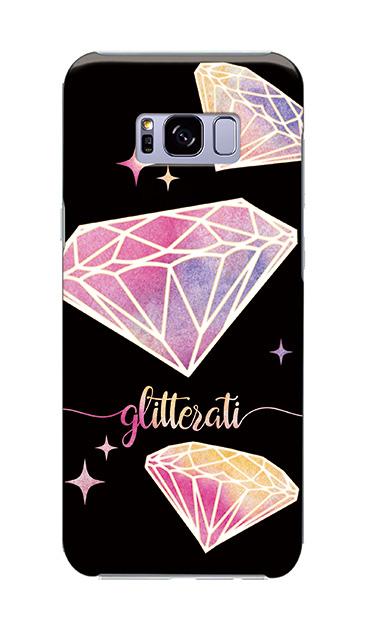 Galaxy S8+のケース、ダイヤモンドグリッター【スマホケース】
