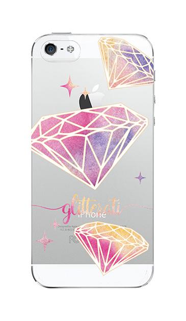 iPhone5Sのクリア(透明)ケース、ダイヤモンドグリッター【スマホケース】