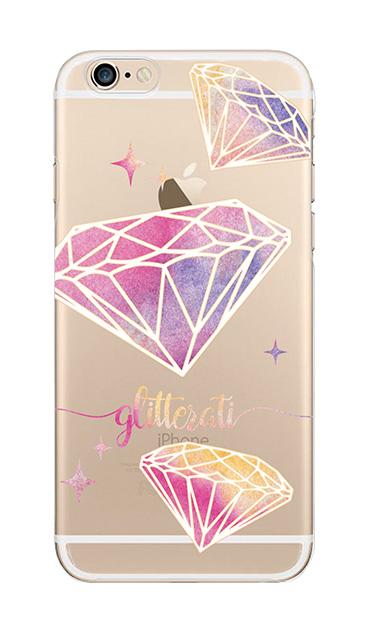 iPhone6sのクリア(透明)ケース、ダイヤモンドグリッター【スマホケース】