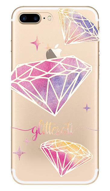 iPhone7 Plusのクリア(透明)ケース、ダイヤモンドグリッター【スマホケース】