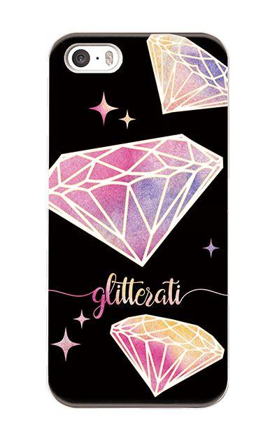 iPhoneSEのハードケース、ダイヤモンドグリッター【スマホケース】