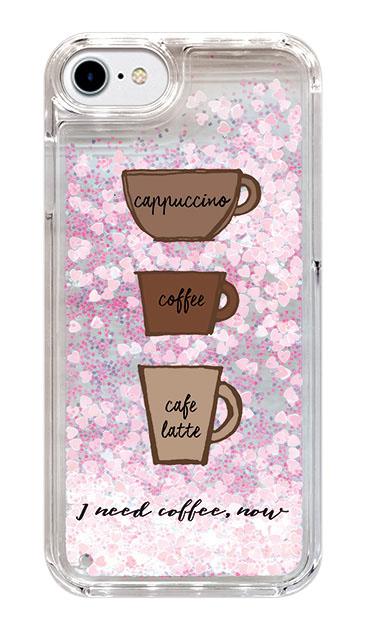 iPhone8のグリッターケース、トリプルカフェマグカップ【スマホケース】