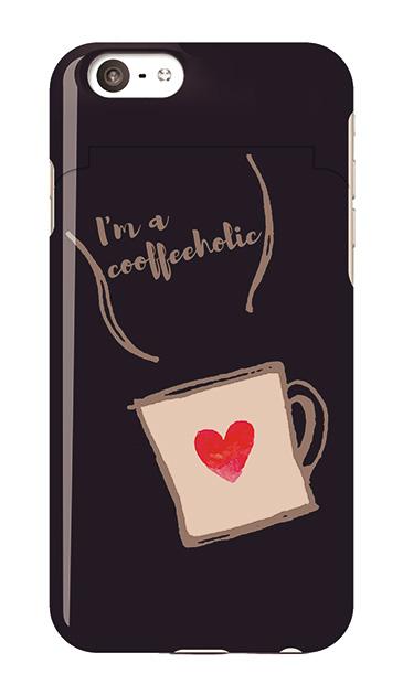 iPhone6sのミラー付きケース、コーヒーホリック【スマホケース】