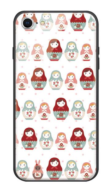 iPhone7のケース、ドットマトリョーシカガール【ハードケース】
