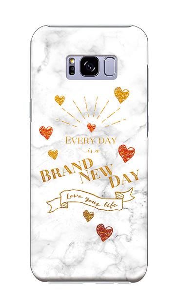 Galaxy S8+のケース、ラブメッセージ大理石【スマホケース】