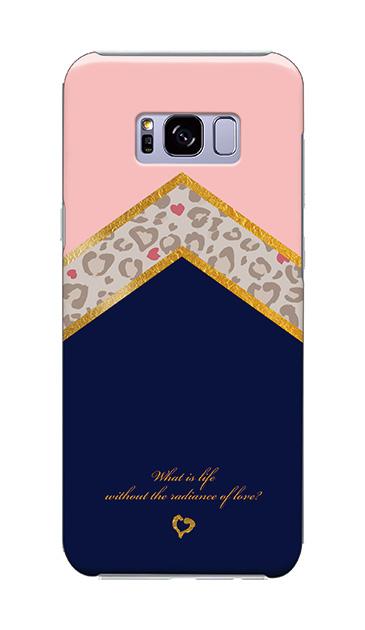 Galaxy S8+のケース、シャープツインレオパード【スマホケース】