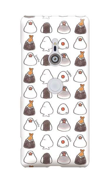 Xperia XZ3のケース、おにぎり文鳥たまに天むす【スマホケース】