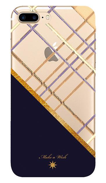 iPhone7 Plusのクリア(透明)ケース、ツインスラッシュチェック【スマホケース】